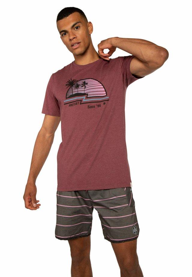 HASWELL - T-shirt print - dark cherry