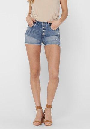 ONLPHINE LIFE DESTROY - Szorty jeansowe - light blue denim