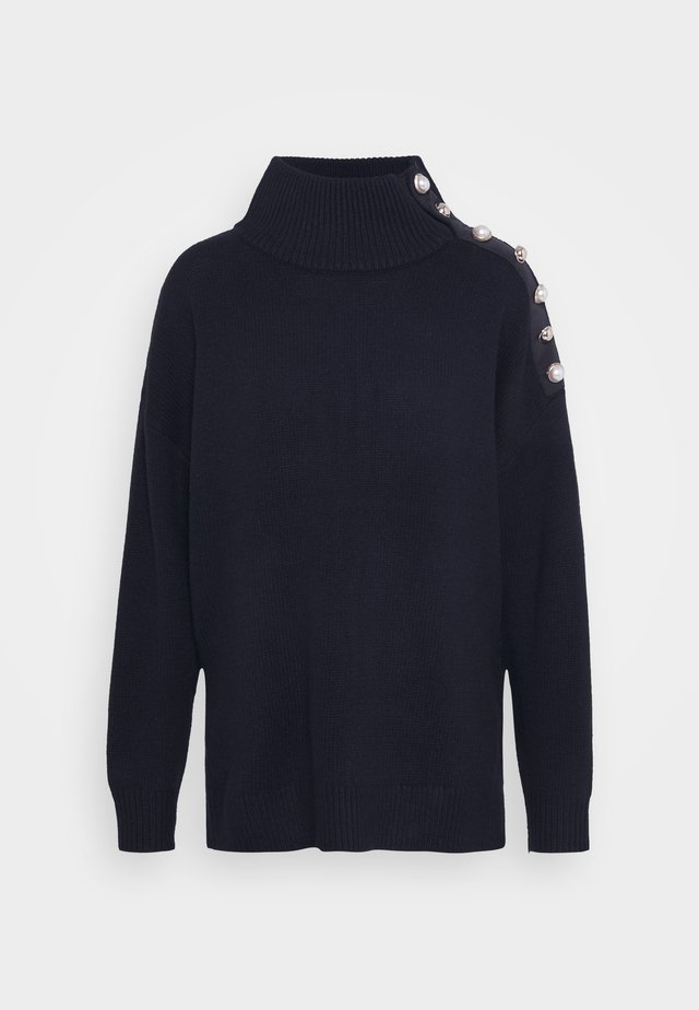 MALO - Stickad tröja - marine