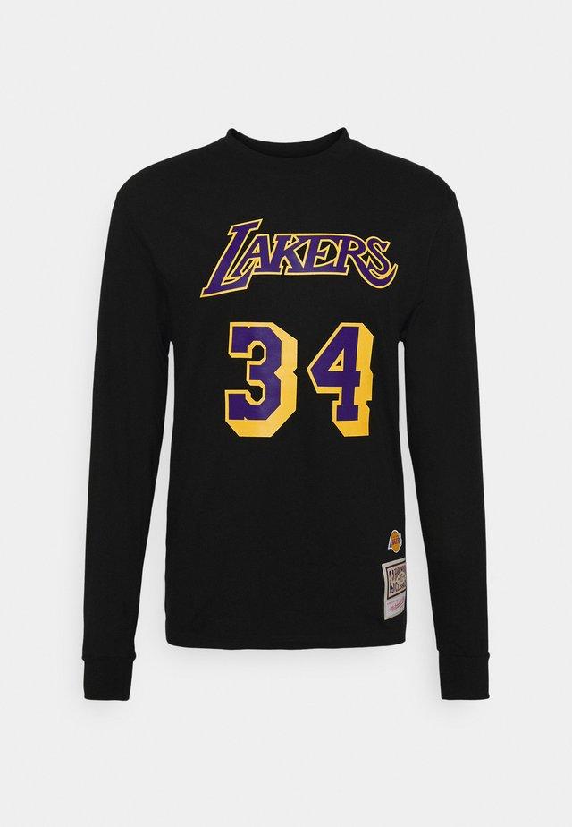 NBA LA LAKERS NUMBER PRINT - Klubtrøjer - black