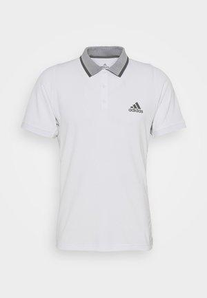 AEROREADY TENNIS SLIM SHORT SLEEVE - Sports shirt - white/grey four