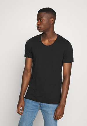 JJDETAIL TEE U NECK - Basic T-shirt - black