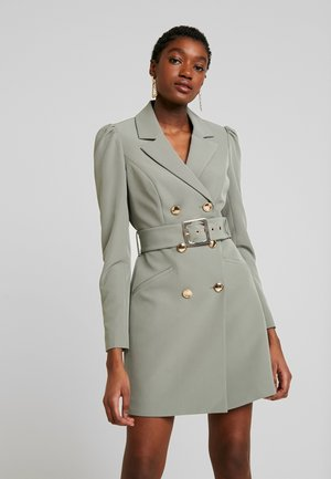 BERNADETTE BELTED BLAZER DRESS - Day dress - khaki