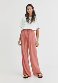 PULL&BEAR - RUSTIKALE - Trousers - mottled beige - 1