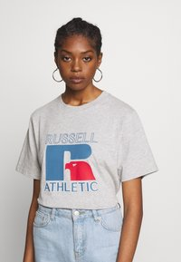 Russell Athletic Eagle R - VIRGINIA - T-shirt con stampa - new grey marl - 0