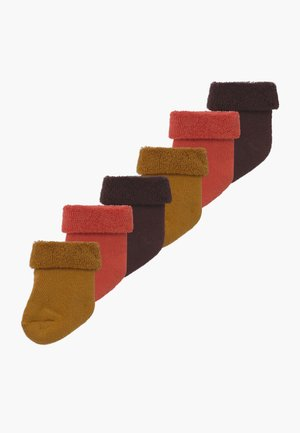 BABY BASIC 6 PACK - Socken - kupfer/toffee/mahagoni