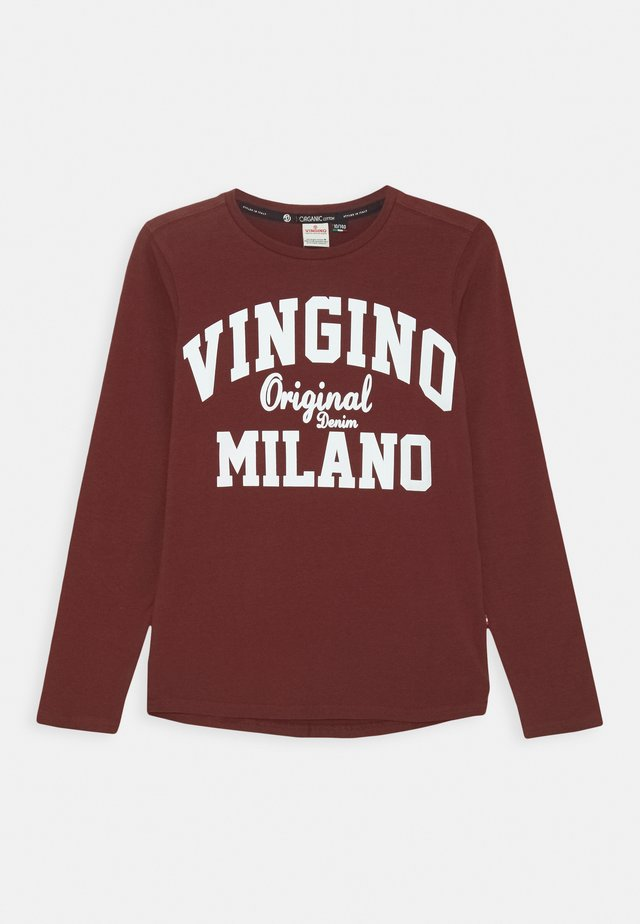LOGO - Long sleeved top - grape red