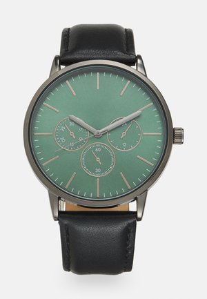 LEATHER - Uhr - black/green