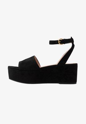 WIDE STRAP GINGER PLATFORM - Platform sandals - black