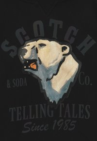 Scotch & Soda - HOODY WITH OVERSIZED ARTWORK - Hoodie - black - 4