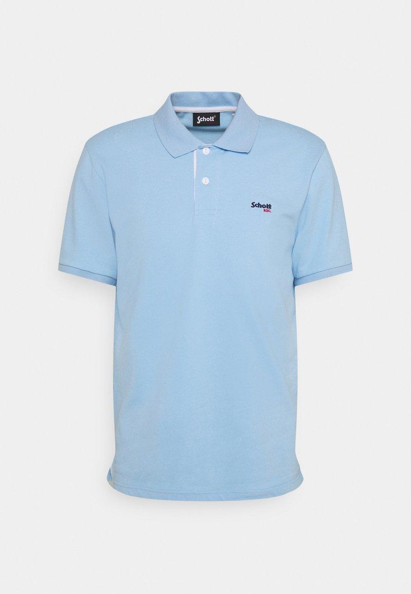 Schott - PSMILTON - Polo shirt - sky/white