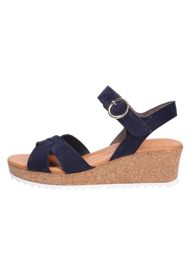 GREEN FASHION  - Wedge sandals - blau (03)