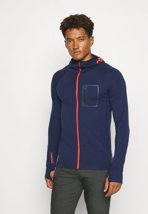 TRAVERSE MIDI FULL ZIP HOOD - Mikina na zip - navy
