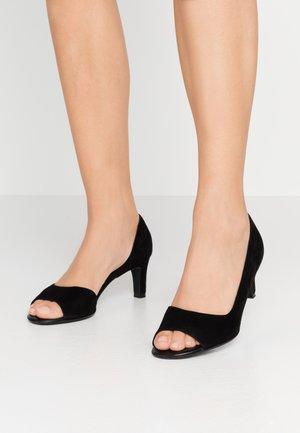 BEATE - Peep toes - schwarz