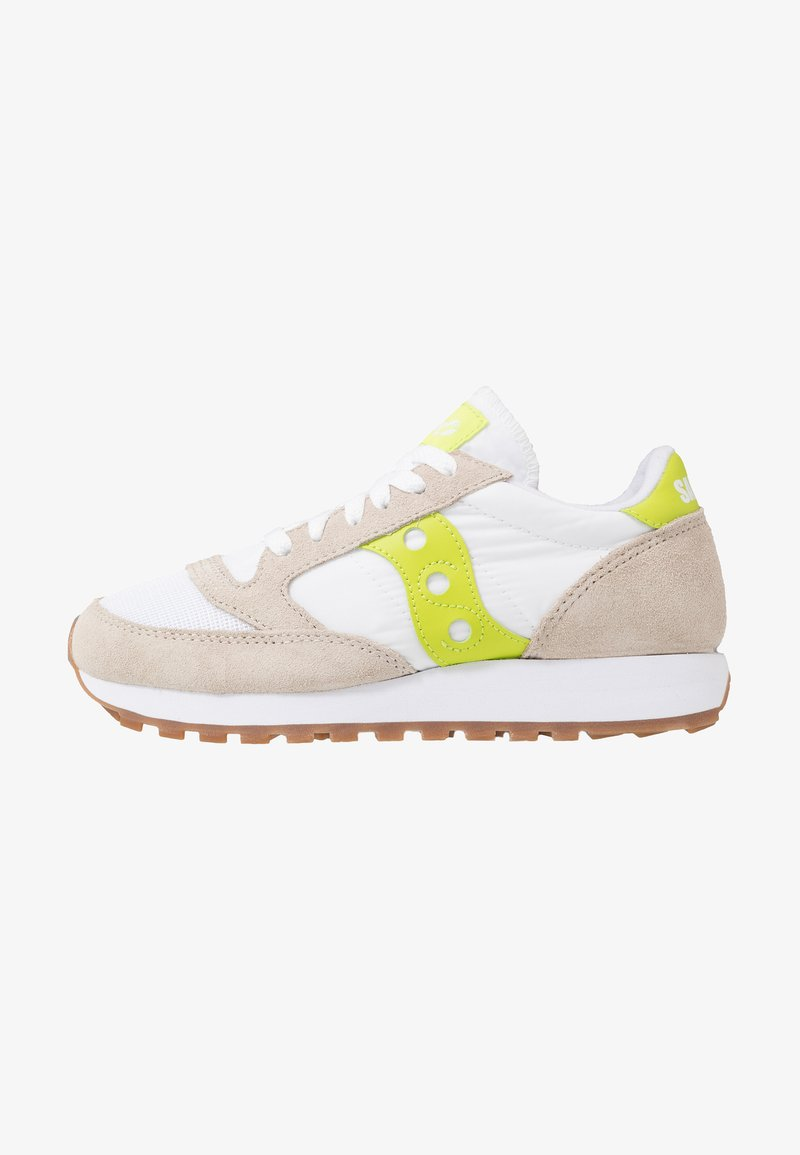 Saucony - JAZZ VINTAGE - Sneakers basse - white/citron