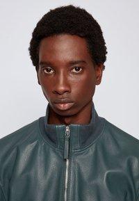 BOSS - NEOVEL - Leather jacket - light green - 3