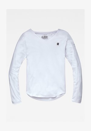 ROLLED EDGE - Long sleeved top - white
