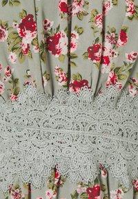 Vila - VIMILINA FLOWER DRESS - Cocktail dress / Party dress - green milieu/red/pink - 4