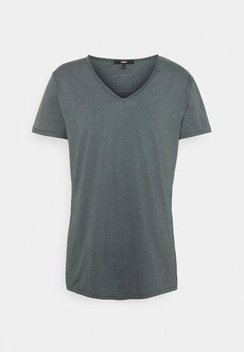 MALIK - Basic T-shirt - asphalt