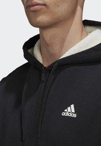 adidas Performance - WINTER 3-STRIPES FULL-ZIP HOODIE - Zip-up hoodie - black - 3