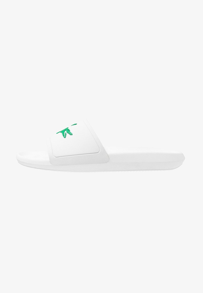 Lacoste - CROCO SLIDE - Pool slides - white