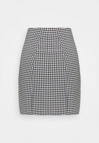 Monki - RENATA SKIRT - Mini skirt - black dark/white - 1