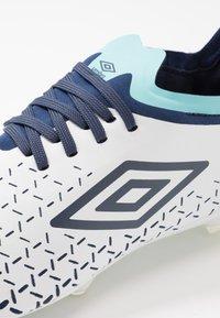 Umbro - VELOCITA V PRO FG - Moulded stud football boots - white/medieval blue/blue radiance - 5