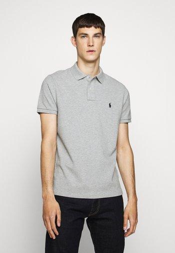 CUSTOM SLIM FIT MESH POLO - Poloskjorter - mottled grey