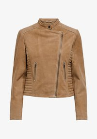 ONLY - Leather jacket - cognac - 4