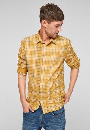 SLIM: - Shirt - yellow check
