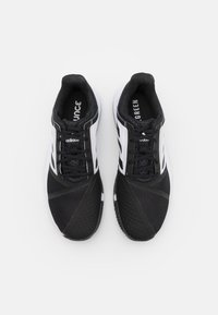 adidas Performance - COURTJAM BOUNCE CLAY - Clay court tennis shoes - core black/footwear white/grey three - 3