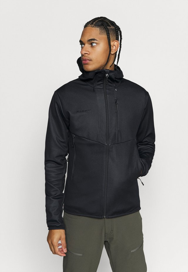 ULTIMATE HOODED JACKET MEN - Chaqueta softshell - black