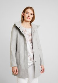 TOM TAILOR DENIM - Wollmantel/klassischer Mantel - light silver grey melange - 0