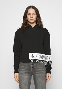 Calvin Klein Jeans - Hoodie - black/bright white - 0