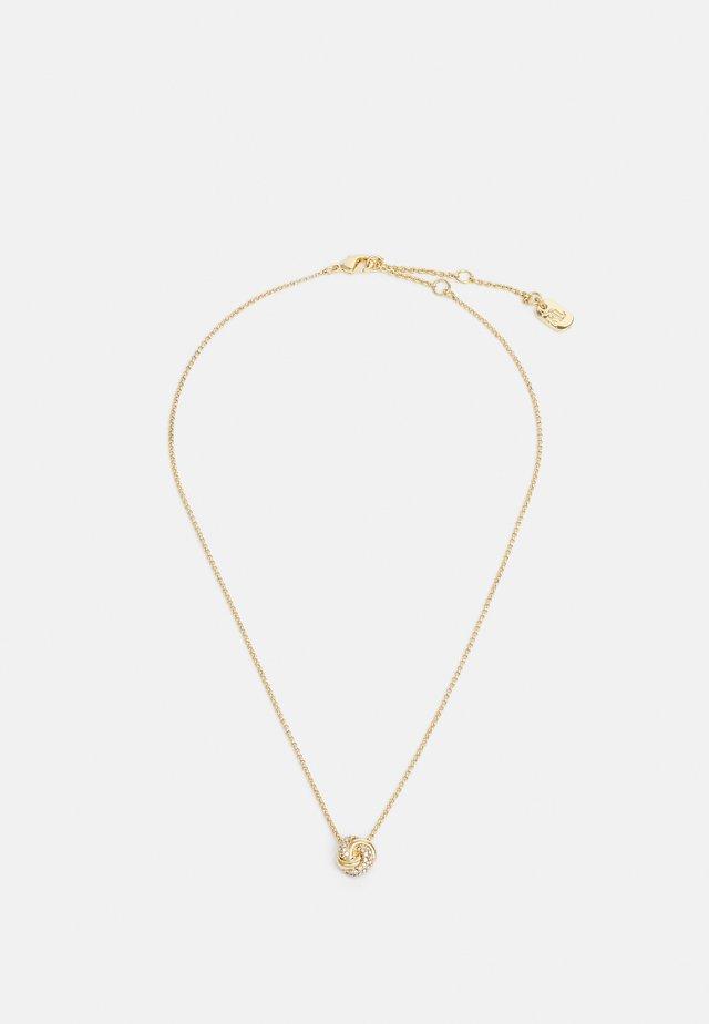 CARDED PAVE KNOT - Náhrdelník - gold-coloured
