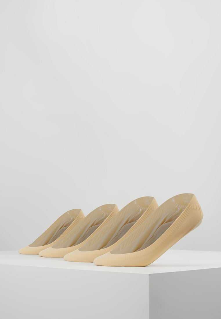 camano - WOMEN FOOTY  NO SLIPPING 4 PACK - Trainer socks - natural