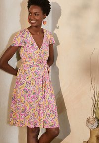 Boden - Jersey dress - pink, sommerliches paisleymuster - 0