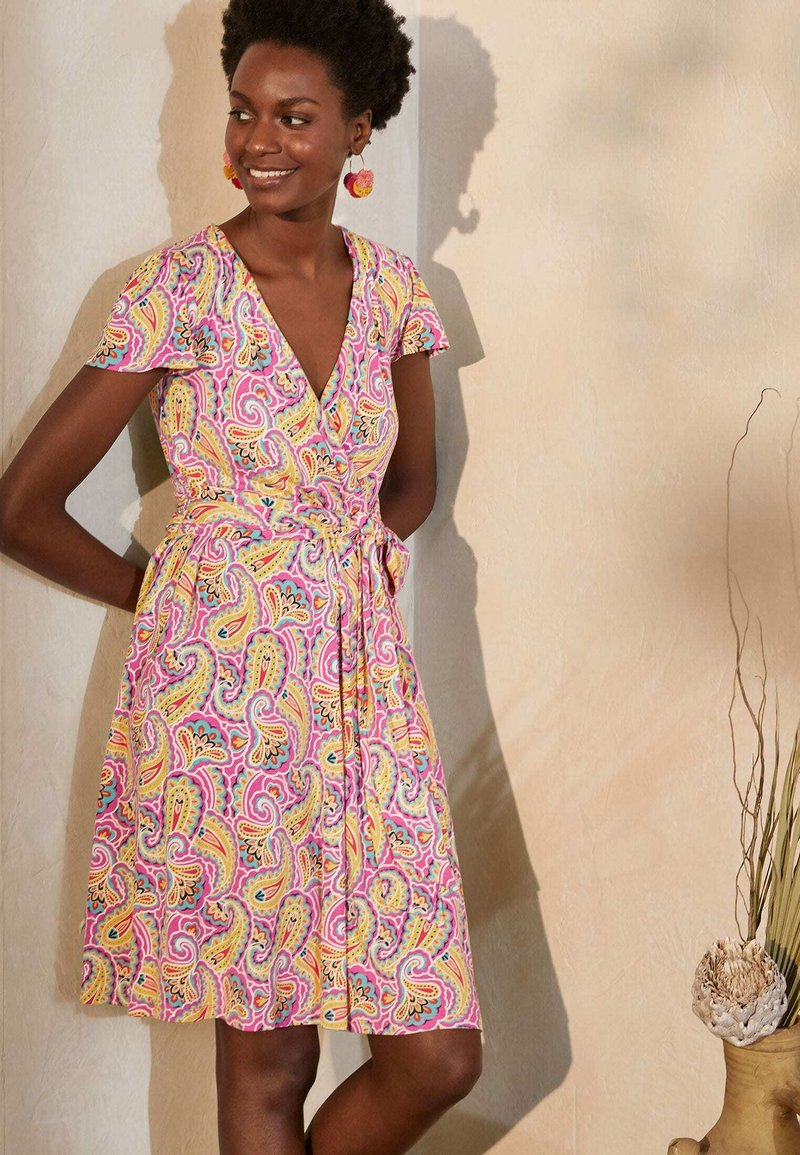 Boden - Jersey dress - pink, sommerliches paisleymuster