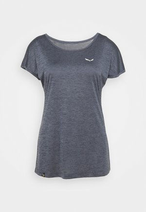 PUEZ DRY TEE - Basic T-shirt - premium navy melange