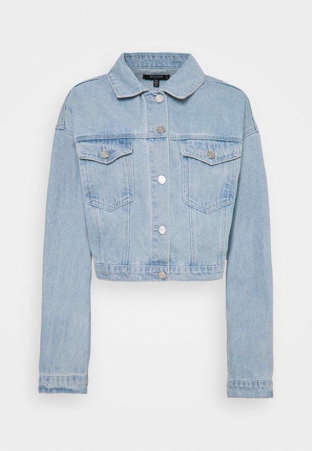 CROP JACKET - Veste en jean - blue