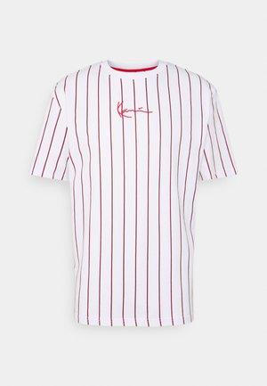 SMALL SIGNATURE UNISEX  - Camiseta estampada - white