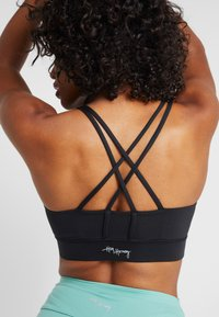 Hey Honey - CRISS CROSS BRA BORDAUX - Sports bra - black - 3