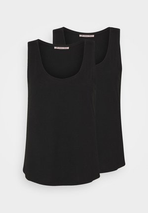 2 PACK - Top - black/black
