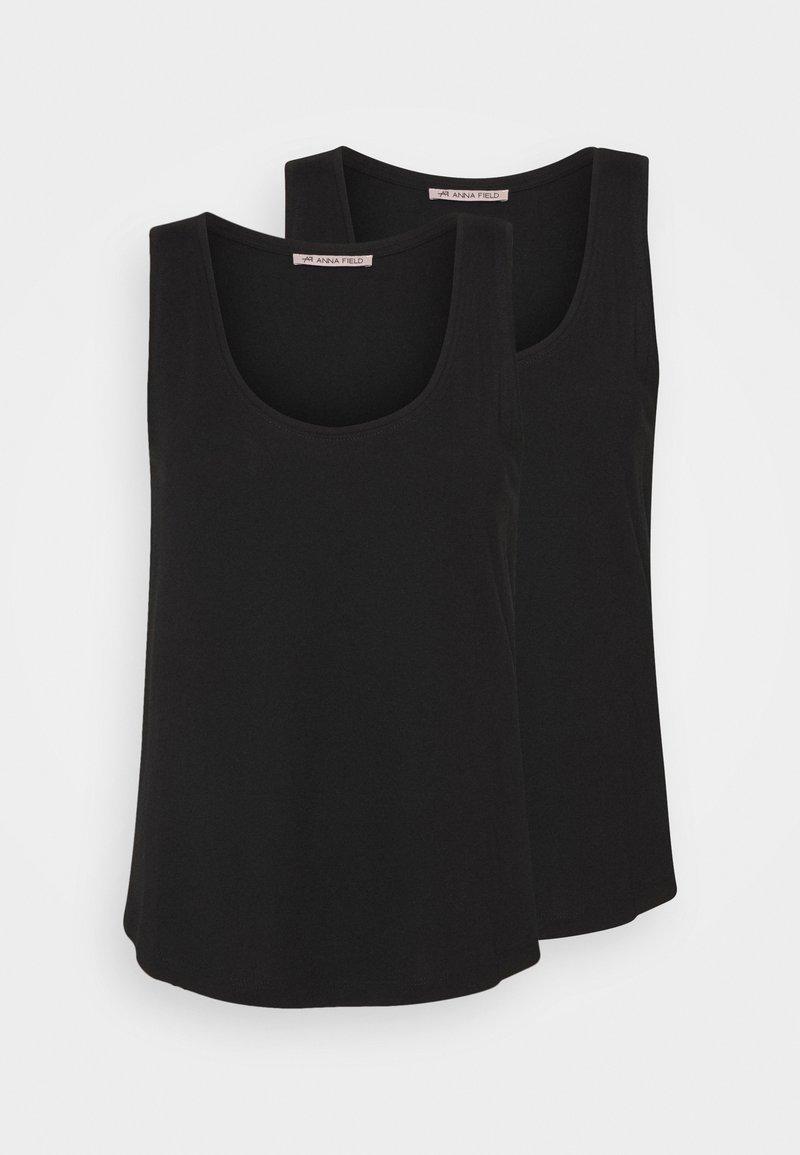 Anna Field - 2 PACK - Toppi - black/black