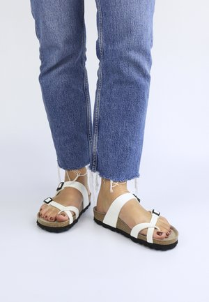 DUBLIN - T-bar sandals - weiß