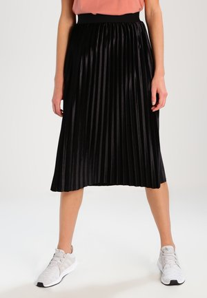 PLISSE - A-line skirt - black