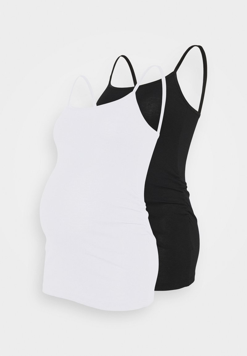 New Look Maternity - SHOESTRING 2 PACK - Top - black/white