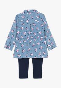 OVS - BABY SHIRT SET - Leggings - Trousers - dress blues - 1