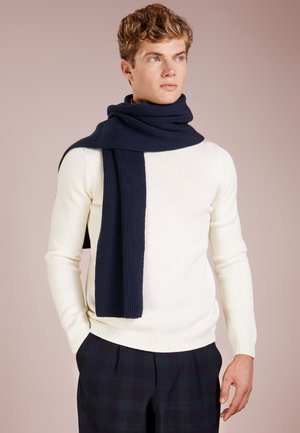 RIBBED CASHMERE SCARF - Szal - navy