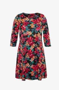 DIPPED HEM SWING DRESS - Žerzejové šaty - pink floral